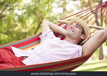 Young Man, Man, Enjoyment & Relaxation, Hammock