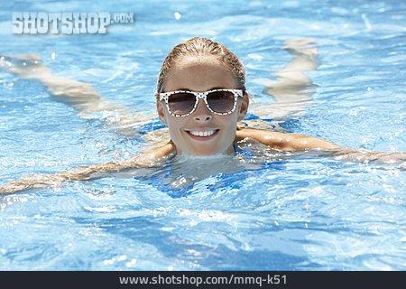 Young Woman, Woman, Swim