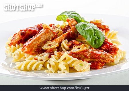 Chicken Meat, Pasta, Tomato Sauce