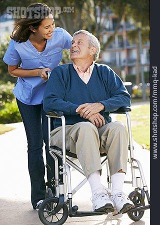 Senior, Old Nurse, Caregiver