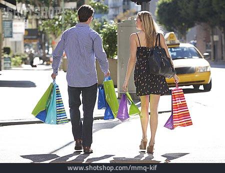 Couple, Shopping, City Shopping