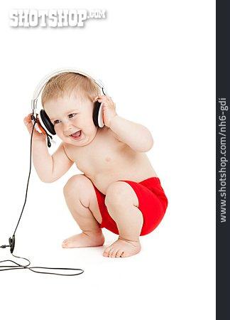 Toddler, Music, Headphones
