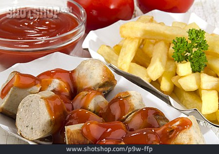 Fast Food, French Fries, Curry Sausage