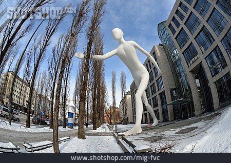 Sculpture, Munich, Walking Man