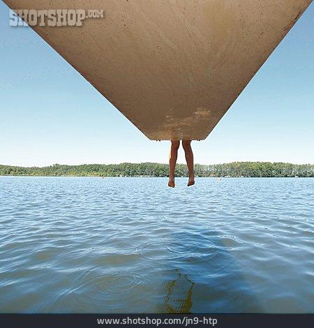Lake, Summer, Diving Board, Summer Holidays