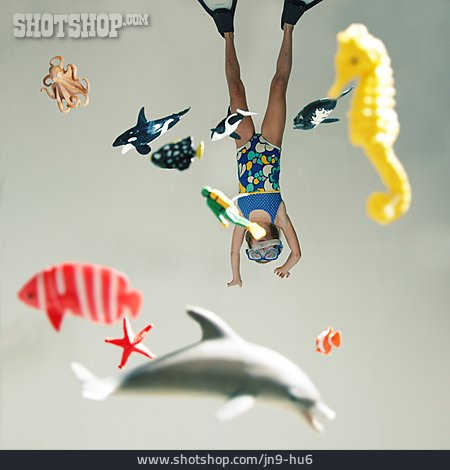 Child, Diving, Beach Holiday