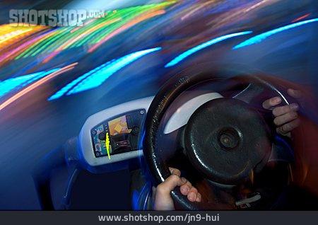Driving, Steering Wheel, Bumper Cars