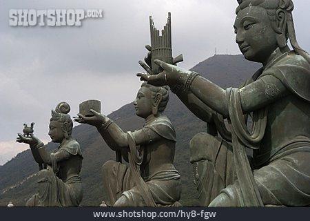 Buddhism, Statue, Buddha, Tian Tan Buddha