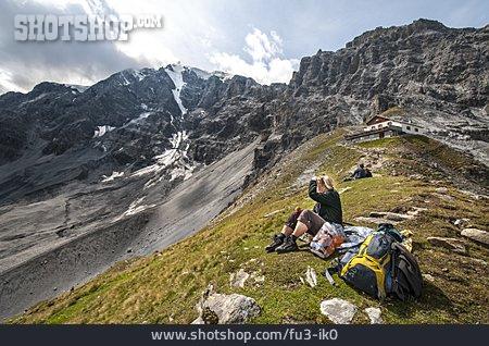 Mountain Range, Hiking, Rest, Ortler