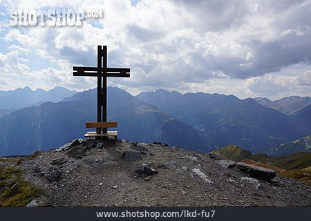 Mountain Range, European Alps, Summit, Cross