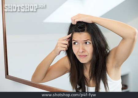 Woman, Hair Loss, Split