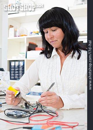 Woman, Repair, Computer Technology