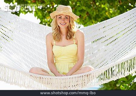 Young Woman, Summer, Hammock