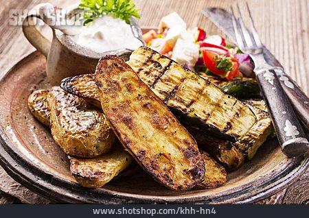 Appetizer, Greek Cuisine, Mezes, Grilled Vegetables