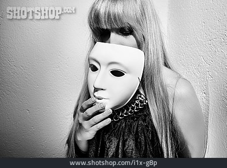 Young Woman, Hiding, Psychosis, Split Personality