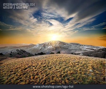 Landscape, Mountain Range, Crimea