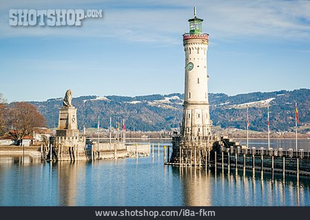 Lighthouse, Harbor Entrance, Lindau