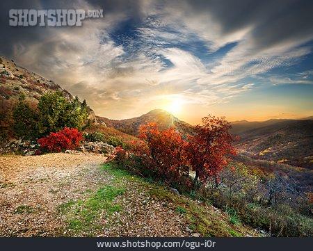 Mountain Range, Autumn Landscape, Autumn
