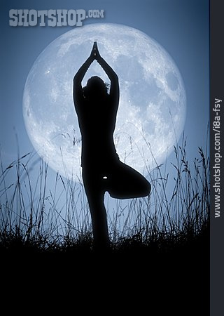 Moon, Meditating, Yoga, Vital