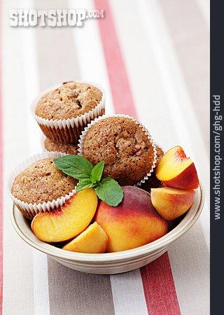 Muffin, Cupcake, Peach Muffin