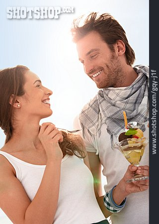 Couple, Summer, Loving, Looking At Each Other