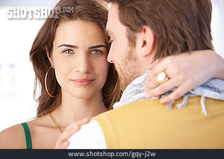 Couple, Embracing, Loving