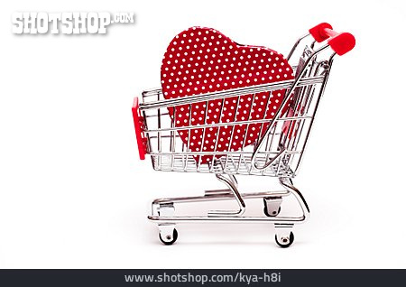 Heart, Shopping Cart