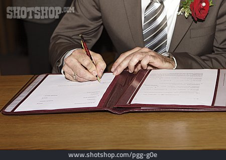 Wedding, Signing, Marriage Certificate