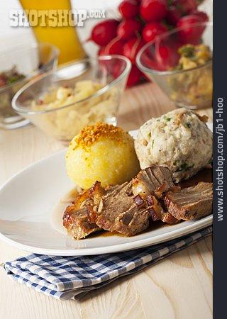 Dumplings, Roast Pork, German Cuisine