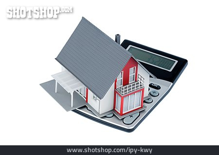 Calculator, Model House, Real Estate, Mortgages