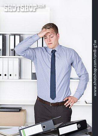 Man, Businessman, Work, Emotional Stress