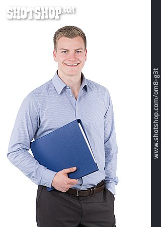Young Man, Man, Businessman, Clerk
