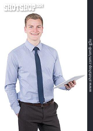 Young Man, Man, Businessman, Tablet-pc