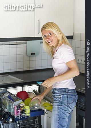 Household, House Work, Housewife, Dishwasher