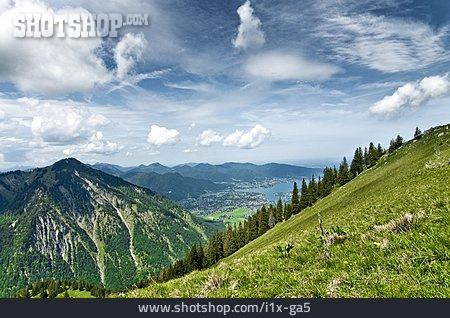 Mountains, European Alps, Valley, Tegernsee