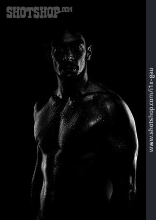 Man, Sportsman, Muscular Build