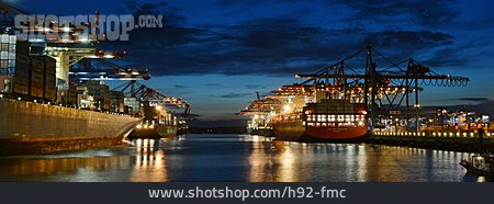 Logistics, Container Ship, Burchardkai