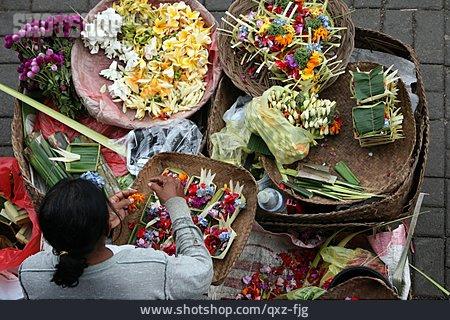 Bali, Flower Seller