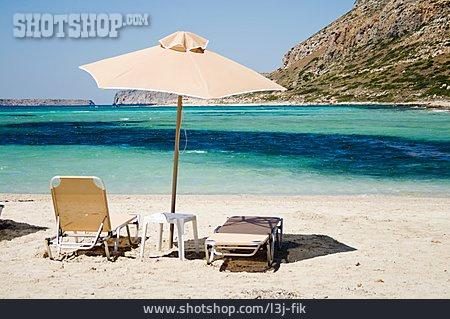 Beach, Vacation, Parasol, Deck Chair