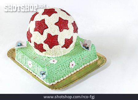 Soccer, Cake, Dessert