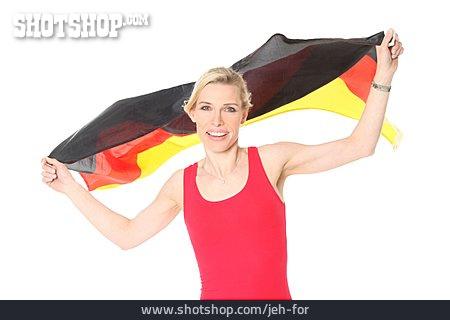 Woman, Cheering, Soccer Fan, German Fans