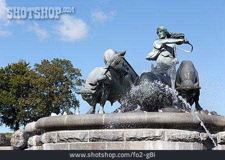 Gefion Fountain, Gefion
