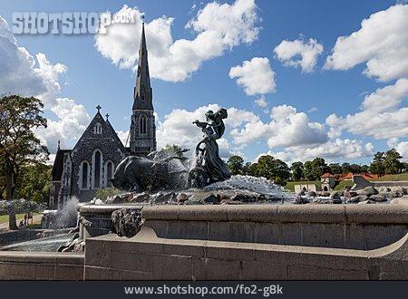 Copenhagen, Gefion Fountain, Sankt Alban