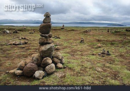 Balance, Iceland, Stone Stack