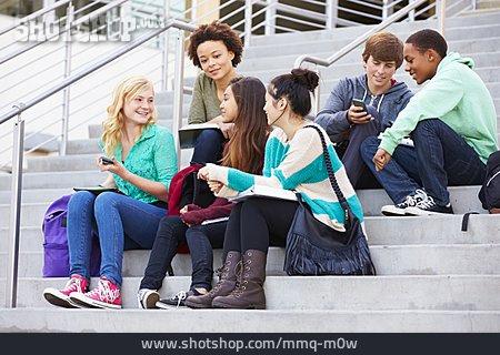 Teenager, School Children, Friends, Clique