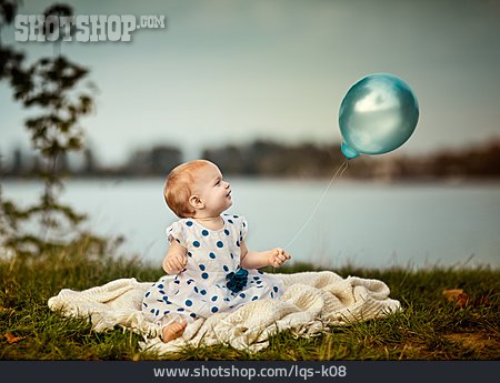 Baby, Balloon, Evening