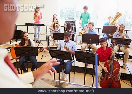 School Children, Orchestra, Music Lessons