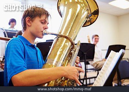 Wind Instrument, School Children, Music Students