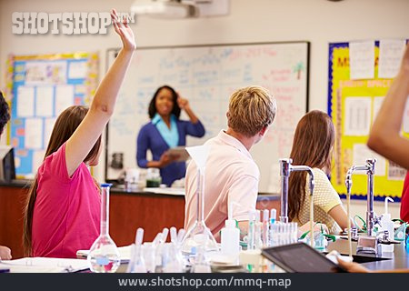 School Children, Class, Classroom, Chemic Lesson
