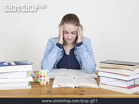 Learning, Schoolgirl, Emotional Stress, Student